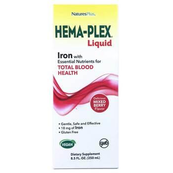Купить Nature's Plus Hema-Plex Liquid Mixed Berry 250 ml