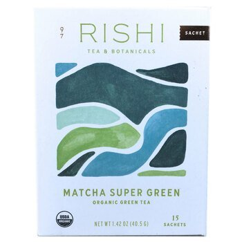 Купить Rishi Tea Organic Green Tea Matcha Super Green 15 Tea Bags 40.5 g