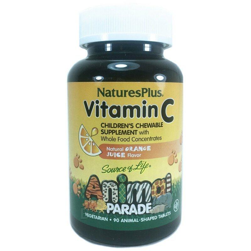 Детский жевательный витамин С парад животных 90 шт фото товара