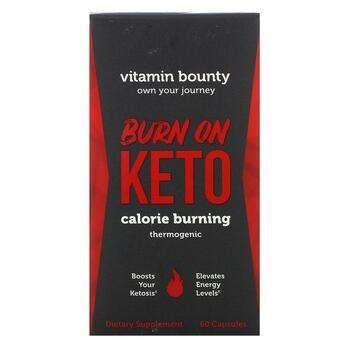 Купить Burn On Keto Calorie Burning Thermogenic 60 Capsules ( Burn On...