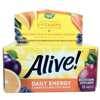 Купить Nature's Way Alive Daily Energy Multi 60 Tablets