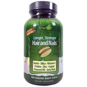 Купить Irwin Naturals Healthy Skin & Hair Plus Nails 60 Liquid Soft-Gels