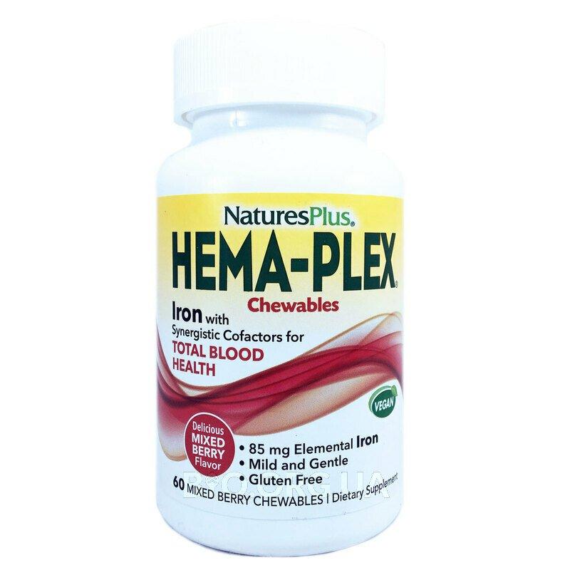 ГемаПлекс вкус Ягода 60 жевательных таблеток