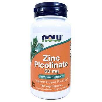 Купить Now Foods Zinc Picolinate 50 mg 120 Capsules