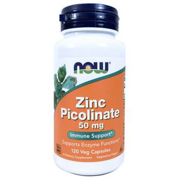 Купить Now Foods Zinc Picolinate 50 mg 120 Capsules