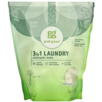 Купить 3 in 1 Laundry Detergent Vetiver 60 Loads 1080 g (Граб Грін Пр...
