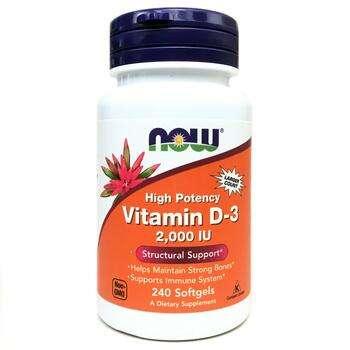 Купить Vitamin D-3 High Potency 2000 IU 240 Softgels