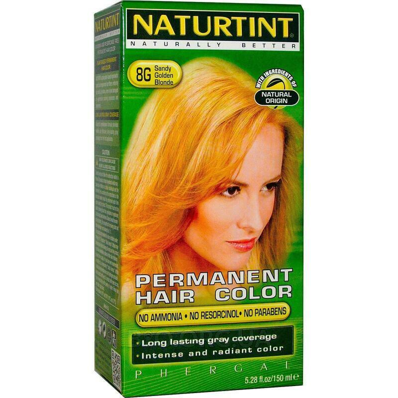 Натуртинт Перманентная краска для волос 8G Sandy Golden Blonde... фото товара