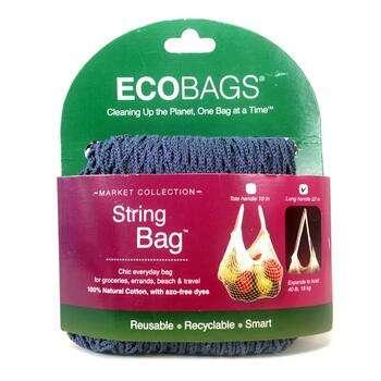 Купить Market Collection String Bag Long Handle 22 in Storm Blue 1 Bag