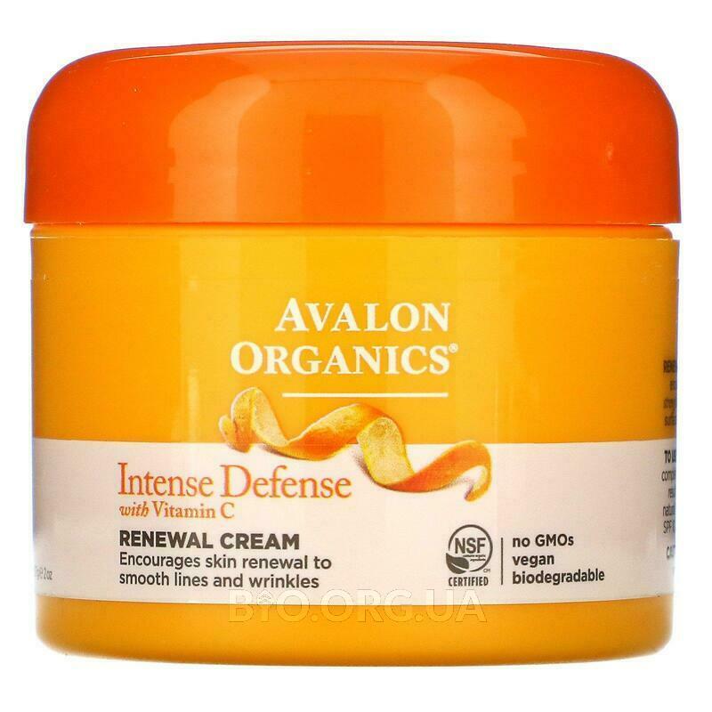 Авалон Органикс крем интенсивная защита с витамином С 57 г фото товара