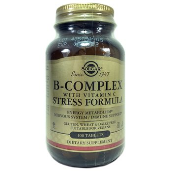 Купить B-Complex with Vitamin C Stress Formula 100 Tablets (B-комплек...