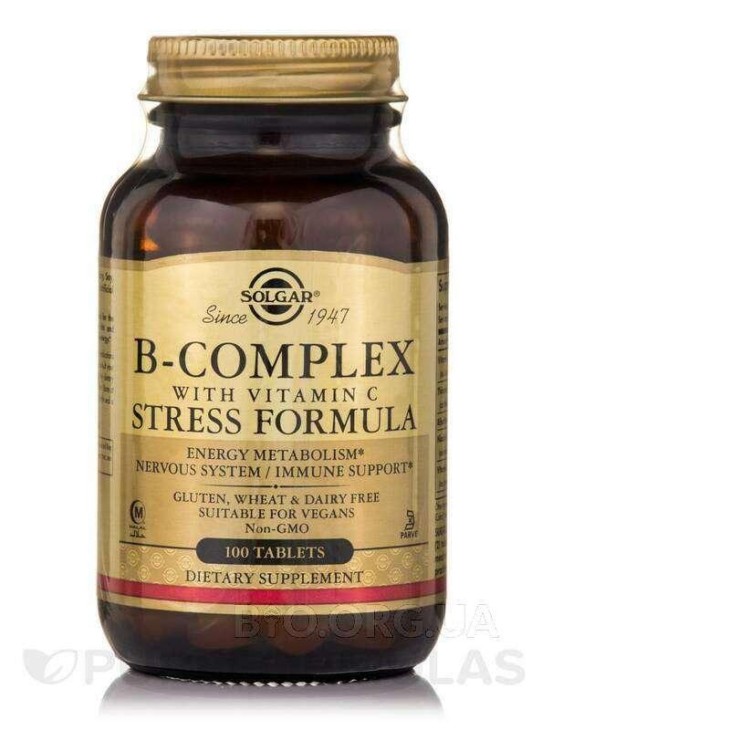 B-комплекс с витамином С Стресс Формула 100 таблеток фото товара