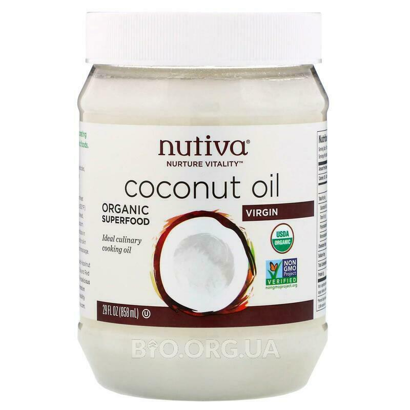 Нутива органическое нерафинированое кокосовое масло холодного ... фото товара