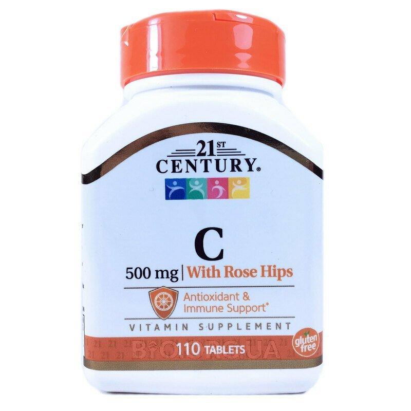 21 век Натуральный С 500 мг с шиповником 110 таблеток фото товара