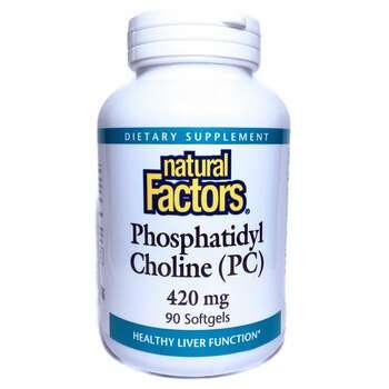 Купить Natural Factors Phosphatidyl Choline PC 420 mg 90 Softgels