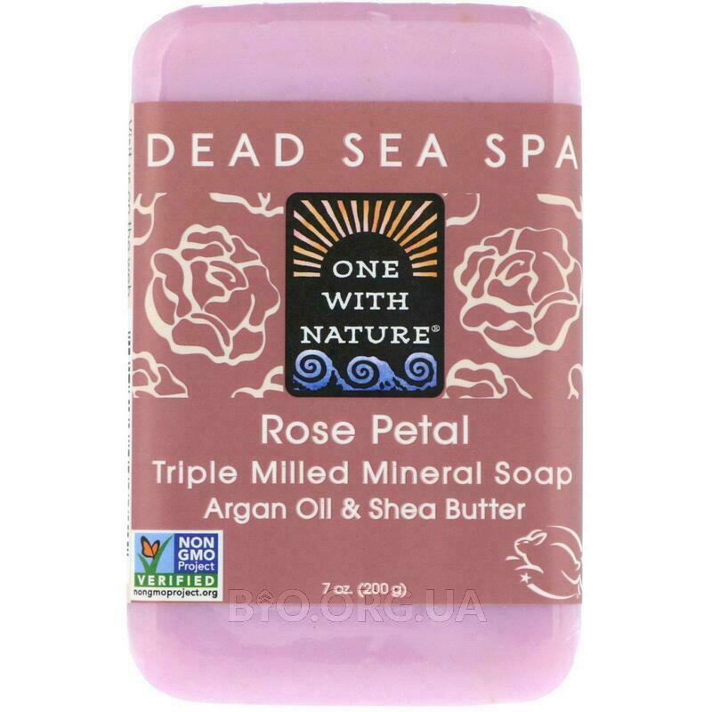 Тройное молотое минеральное мыло с лепестками роз 200 г фото товара