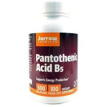 Купить Jarrow Formulas Pantothenic Acid B5 500 mg 100 Capsules