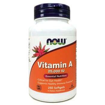 Купить Now Foods Vitamin A 25000 IU 250 Softgels