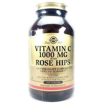 Купить Solgar Vitamin C 1000 mg with Rose Hips 250 Tablets