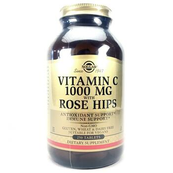 Купить Solgar Vitamin C 1000 mg with Rose Hips 250 Tablets
