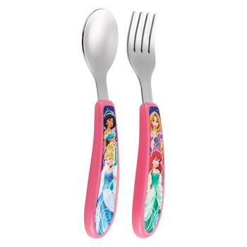 Купить Fork and Spoon Set featuring Disney Princess 9 + Months 2 Piec...