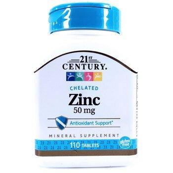 Купить 21st Century Chelated Zinc 50 mg 110 Tablets