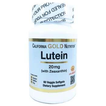 Купить California Gold Nutrition Lutein with Zeaxanthin 20 mg 60 Vegg...
