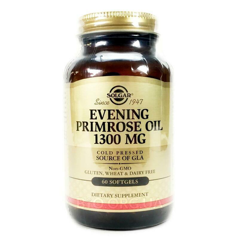Масло вечерней примулы 1300 мг 60 гелевых капсул фото товара