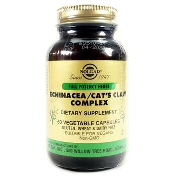 Купить Solgar Echinacea/Cat's Claw Complex 60 Vegetable Capsules