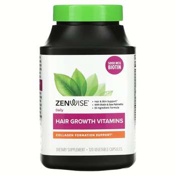 Купить Zenwise Health Daily Hair Growth Vitamins With DHT Blocker 120...