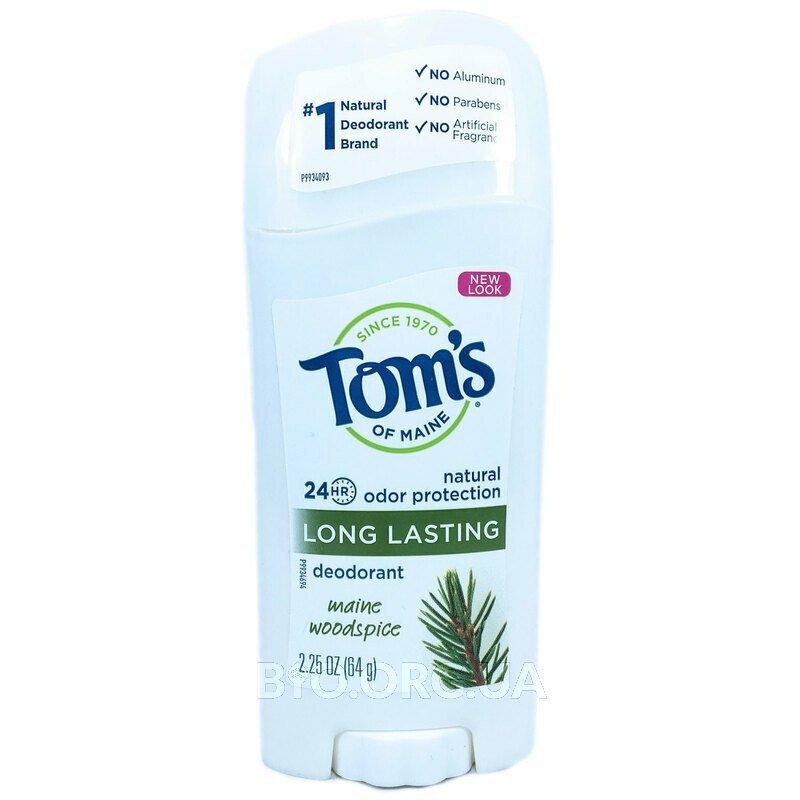Томс Мэйн дезодорант без алюминия хвоя 64 г фото товара