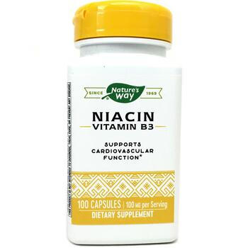 Купить Nature's Way Niacin 100 mg 100 Capsules