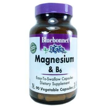 Купить Bluebonnet Nutrition Magnesium Plus B6 90 Vcaps