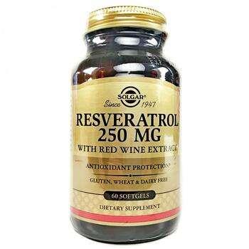 Купить Solgar Resveratrol 250 mg 60 Softgels