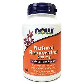 Купить Now Foods Natural Resveratrol 200 mg 120 Veggie Caps