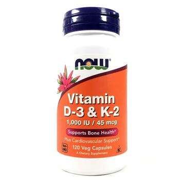 Купить Vitamin D3/K2 1000 IU 45 mcg 120 Veggie Caps