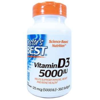Купить Vitamin D3 125 mcg 5000 IU 360 Softgels