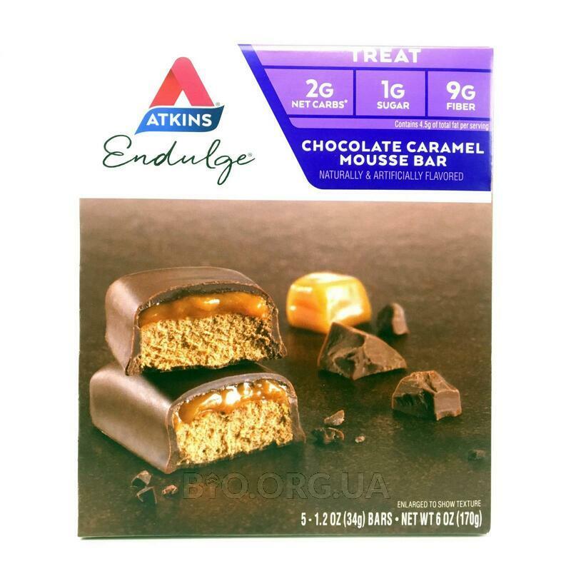 Аткинс Шоколадные батончики с карамельным муссом 5 шт по 34 гр... фото товара