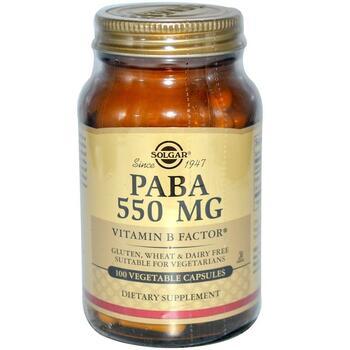 Купить PABA 550 mg 100 Veggie Caps ( ПАБА 550 мг 100 капсул)