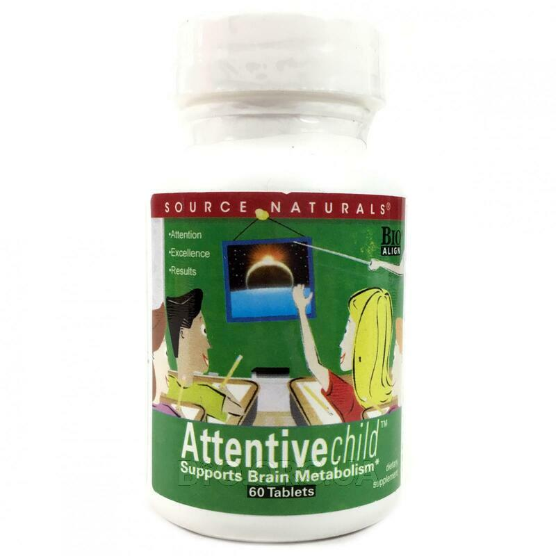 Source Naturals Attentive Child 60 Tablets