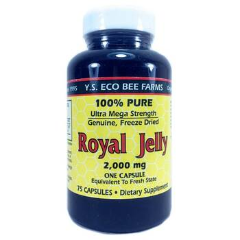 Купить Y.S. Eco Bee Farms Royal Jelly 100% Pure 2000 mg 75 Capsules