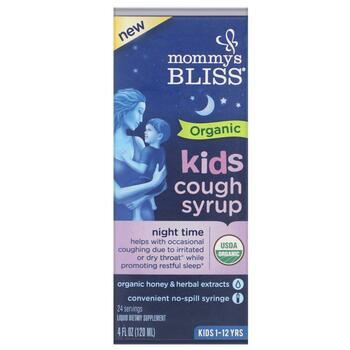 Купить Kids Organic Cough Syrup Night Time 1-12 Yrs 120 ml (Mommy'...