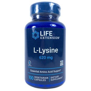 Купить Life Extension L-Lysine 620 mg 100 Vegetarian Capsules