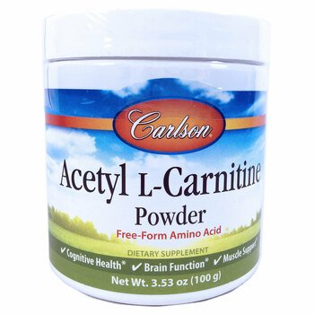 Купить Carlson Labs Acetyl L-Carnitine Amino Acid Powder 100 g