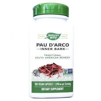 Купить Pau d'Arco Inner Bark 545 mg 180 Veg Capsules (Nature's Wa...
