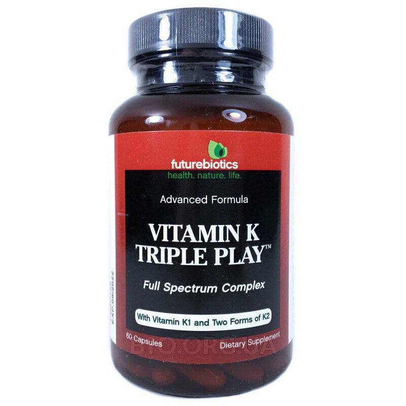 Витамин К 550 мкг Triple Play 60 капсул фото товара