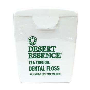 Купить Tea Tree Oil Dental Floss Waxed 45.7 m (Зубна нитка з воском 4...