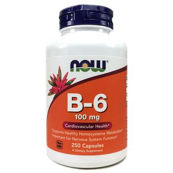 Купить Now Foods B-6 100 mg 250 Capsules