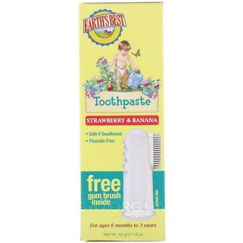 Детская зубная паста без фтора клубника и банан 45 г фото товара