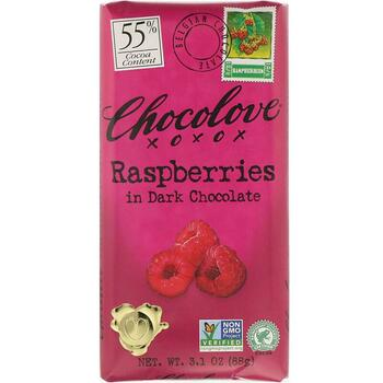 Купить Chocolove Raspberries in Dark Chocolate 88 g